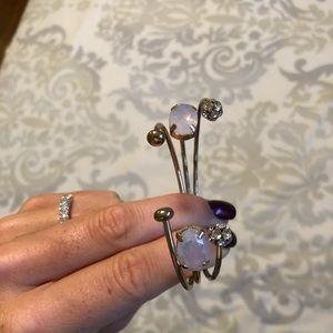 SALE 2 for $15! Pink gold crystal bangle bracelet